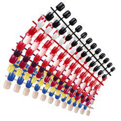 DIY Artificial Nails Fingernail Tips with 10 Colors Pack of 240PCS -