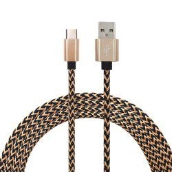 1Meter Nylon Braid Type-C USB Cable Output 2.0A Fast Charge Wire -