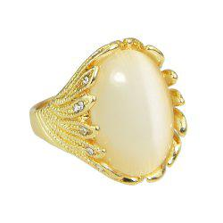 Fashion Large Gemstone Metal Ring for Women -