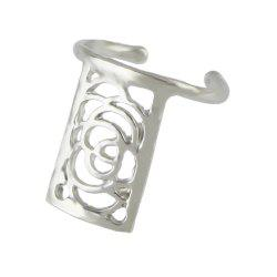 Small Metal Hollow-out Flower Nail Rings for Women -