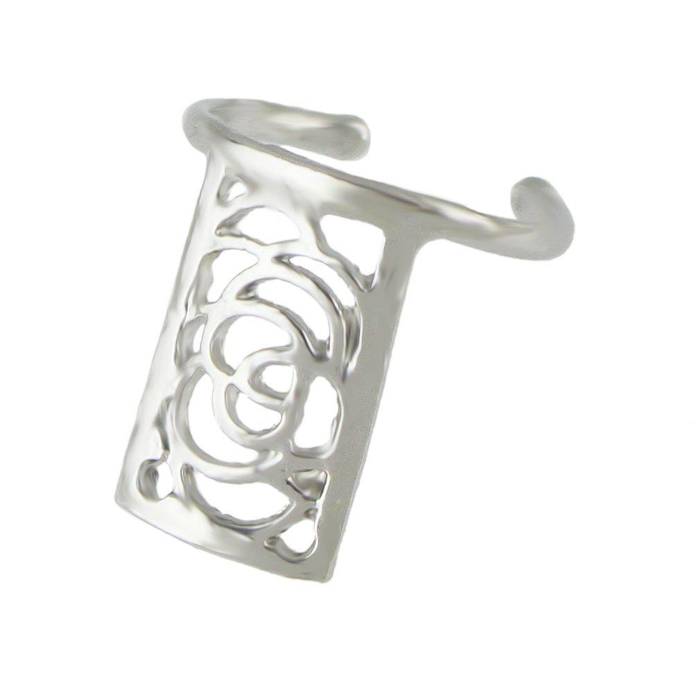 Latest Small Metal Hollow-out Flower Nail Rings for Women