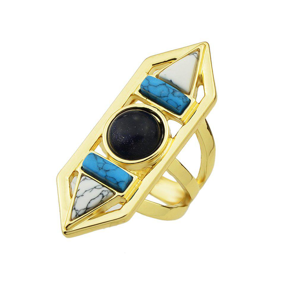Sale Geometric Turquoise Big Finger Ring for Lady