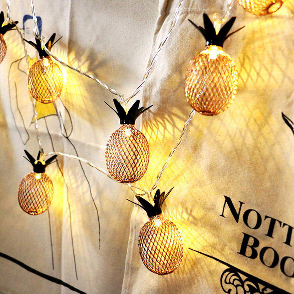 Outfits Iron Pineapple Lamp String Decoration Lamp Christmas Light String Batt