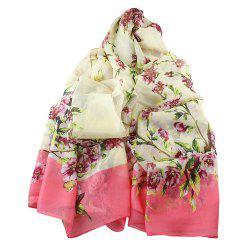Fashion Sweet Colorful Flower Printed Long Scarf -