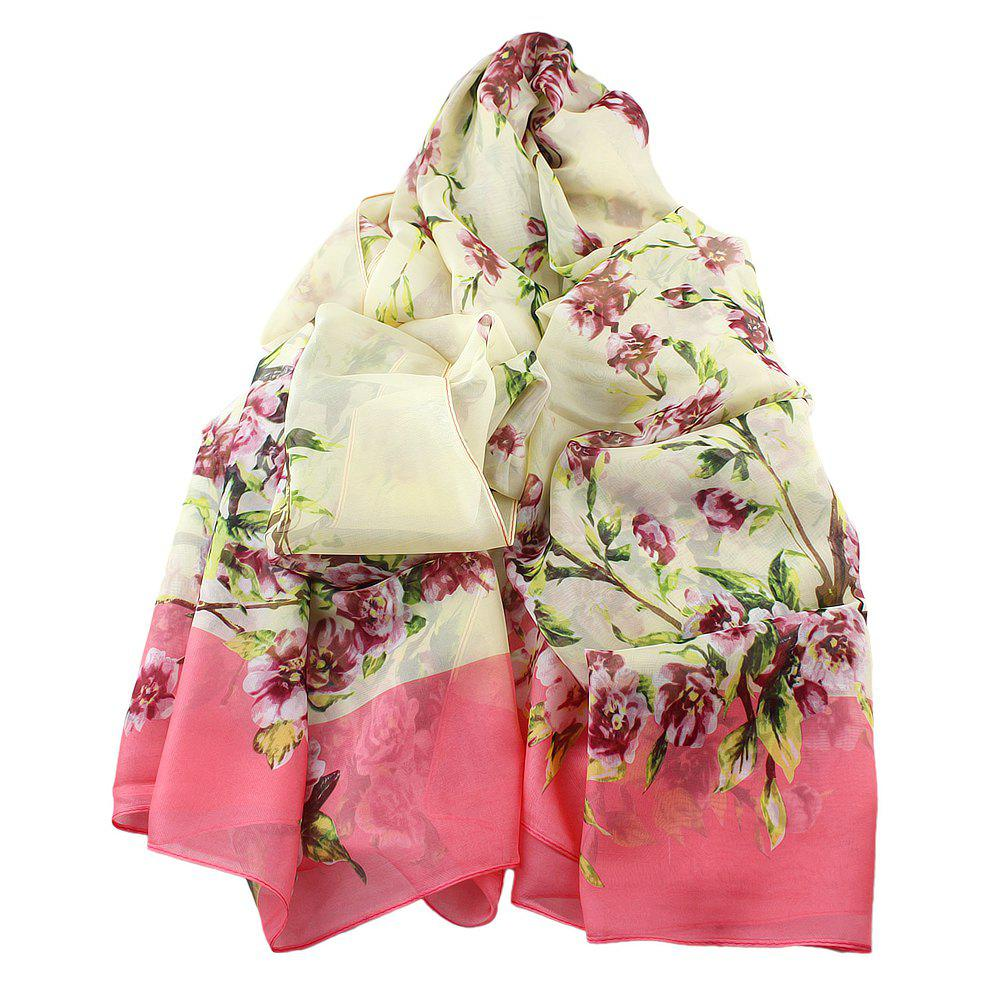 Hot Fashion Sweet Colorful Flower Printed Long Scarf