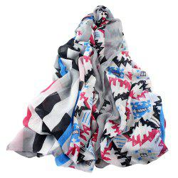 Beautiful Colorful Slub Frame Scarf for Women -