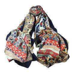 Colorful Printed Cotton Soft Wide Scarf for Ladies -