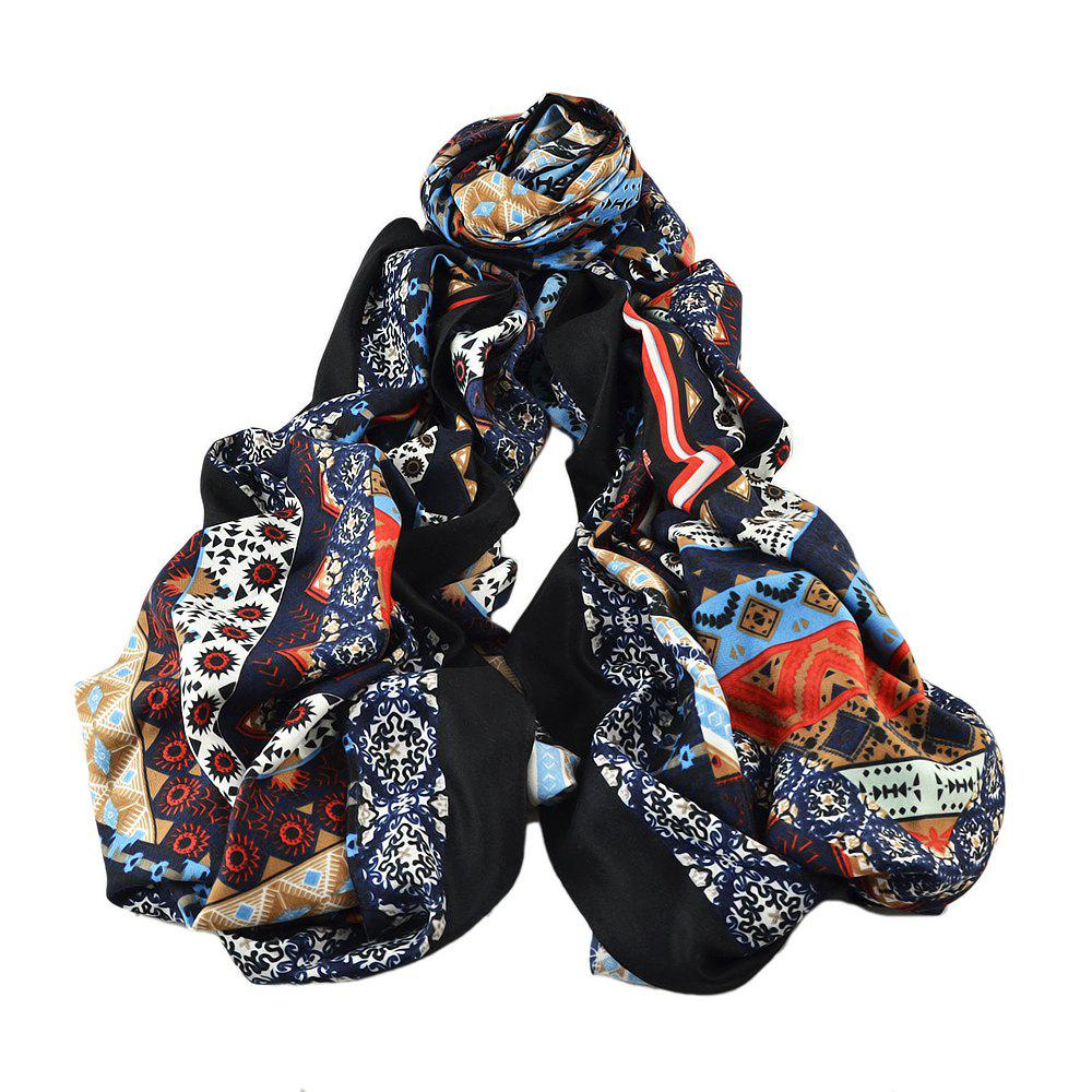 Unique Colorful Printed Cotton Soft Wide Scarf for Ladies