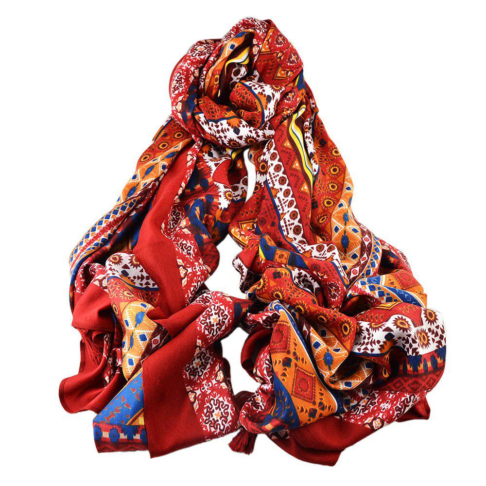 Chic Colorful Printed Cotton Soft Wide Scarf for Ladies