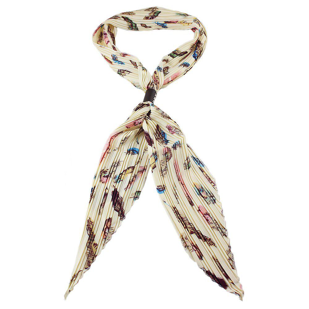 Store Colorful Geometric Print Bowknot Scarf