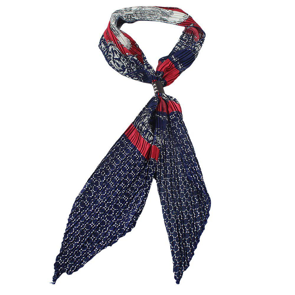 Discount Colorful Geometric Print Bowknot Scarf
