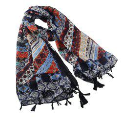 Fashion Classic Printing Scarf Sunscreen Shawl -