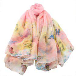 Beautiful Colorful Fresh Butterfly Printing Scarf -
