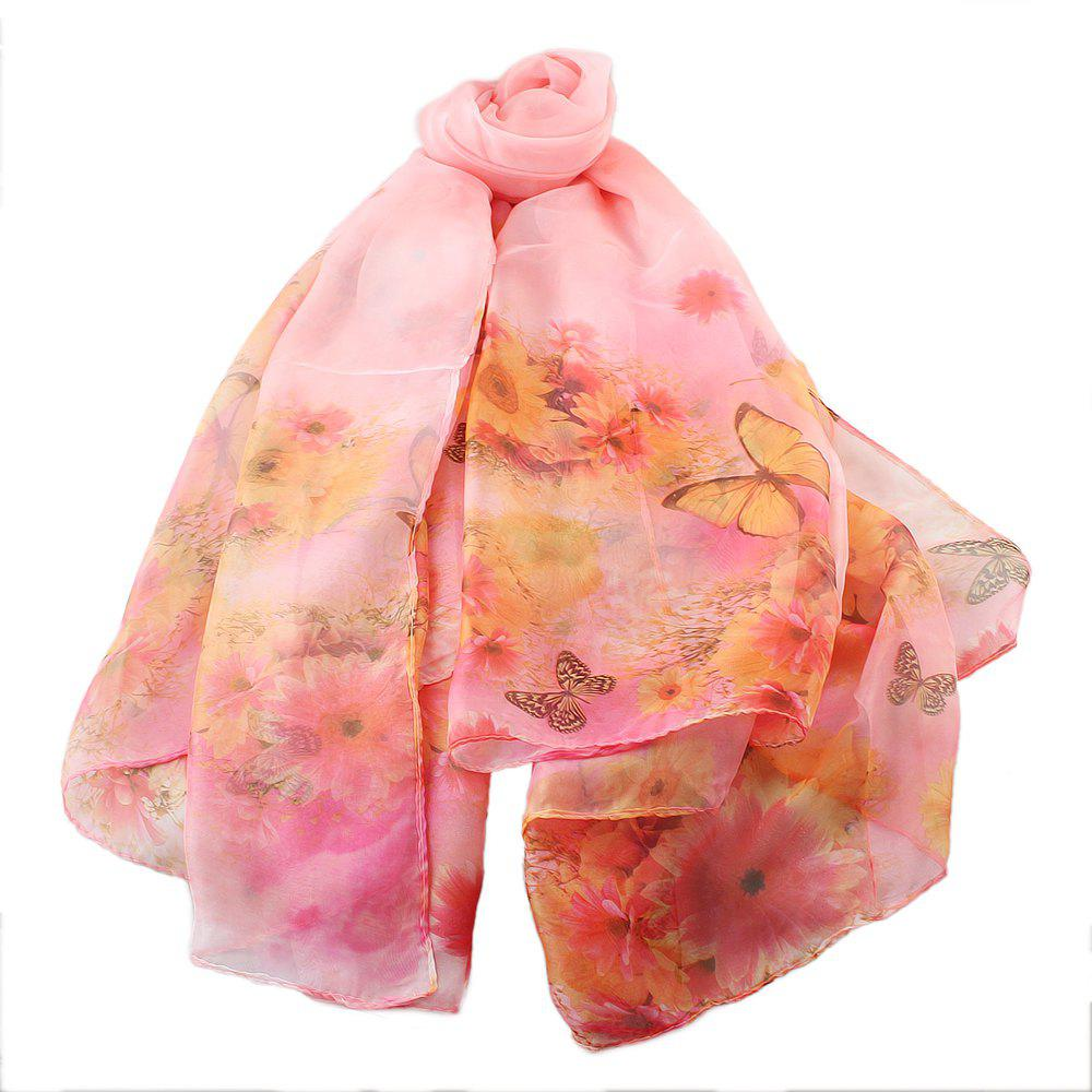 Buy Beautiful Colorful Fresh Butterfly Printing Scarf
