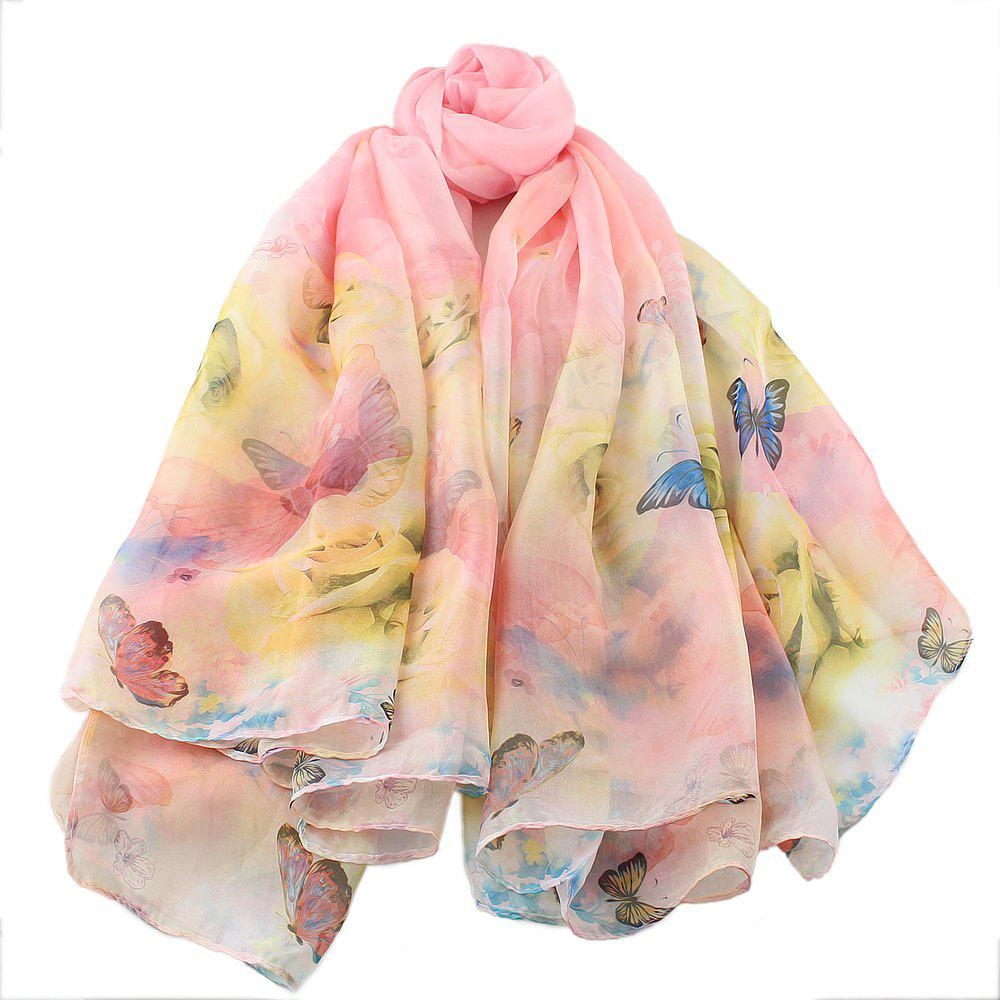 Outfit Beautiful Colorful Fresh Butterfly Printing Scarf