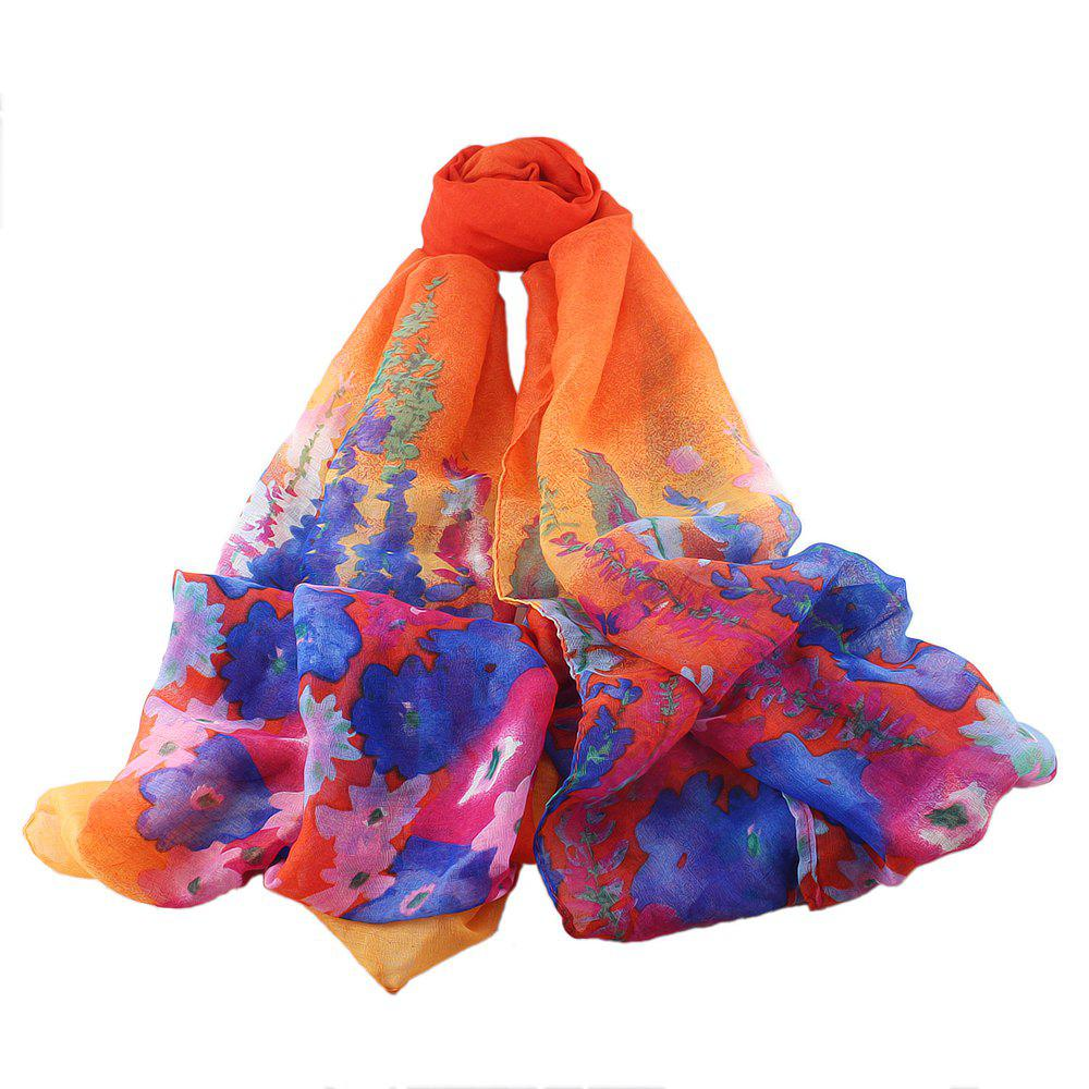 Affordable Colorful Fresh Flower Printing Women Scarf