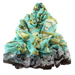 Fashion Lady Candy Color Print Scarf -