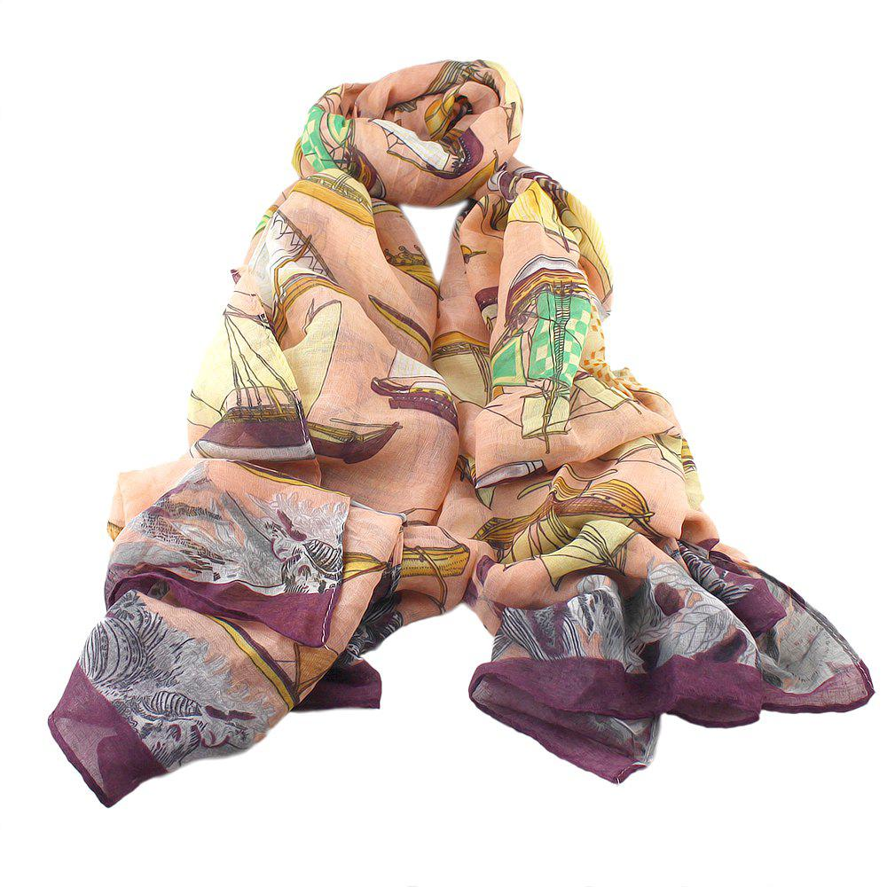 Store Fashion Lady Candy Color Print Scarf