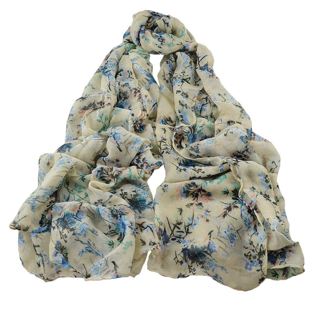 Latest Fashion Women Long Print Cotton Scarf Wrap
