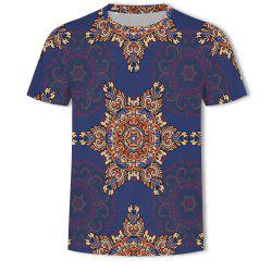 Fashion Leisure Sports Printing Men's Short Sleeve T-shirt -