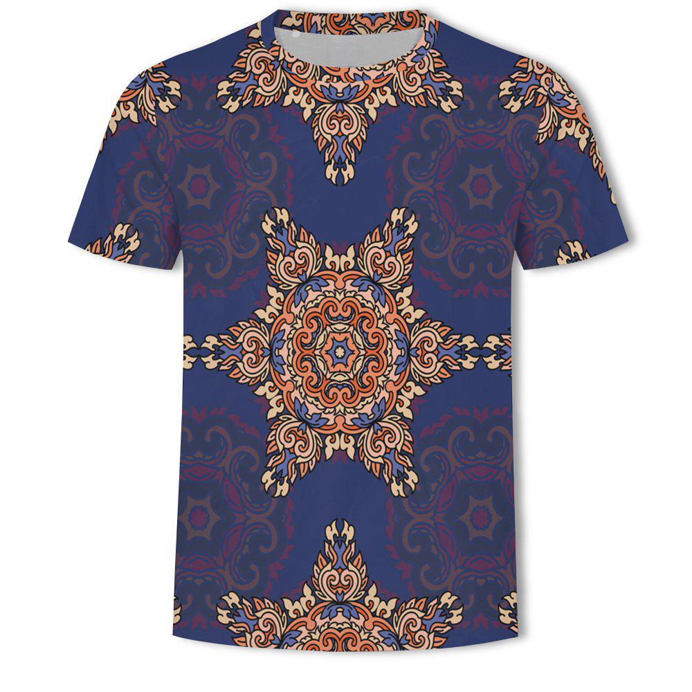Unique Fashion Leisure Sports Printing Men's Short Sleeve T-shirt