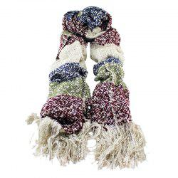 Fashion Colorful Patckwork Winter Wool Scarf -