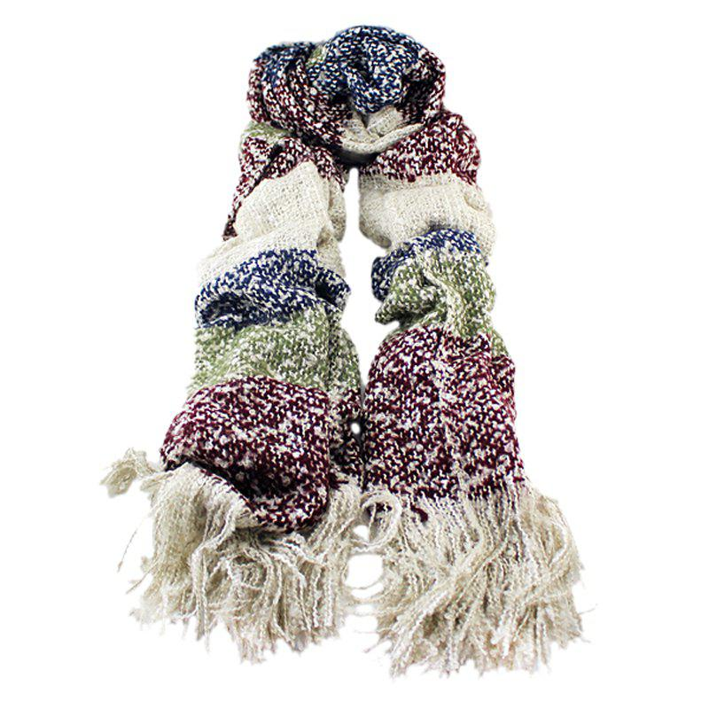 Store Fashion Colorful Patckwork Winter Wool Scarf