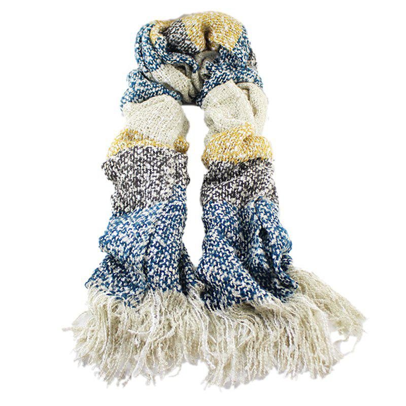 Shop Fashion Colorful Patckwork Winter Wool Scarf