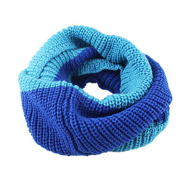 Fancy Fashion Double Color Splicing Knitting Scarf