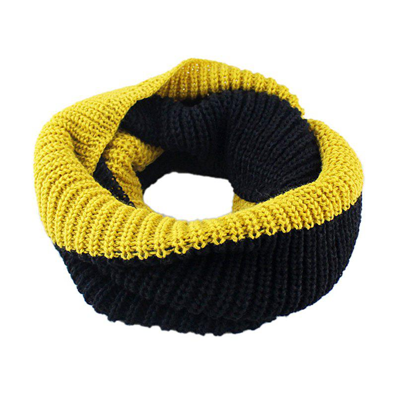 Outfit Fashion Double Color Splicing Knitting Scarf