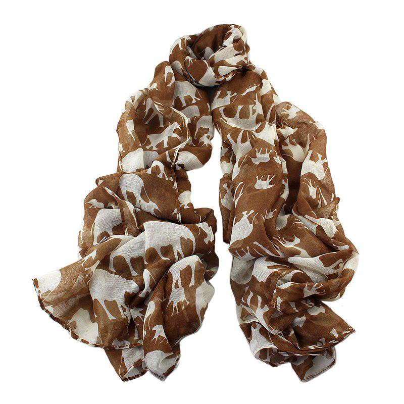 Buy Fashion Lovely Elephant Printing Long Scarf