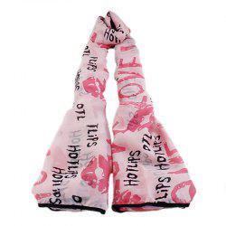 Fashion Sweet Lips Geometry Printing Scarf for Women -