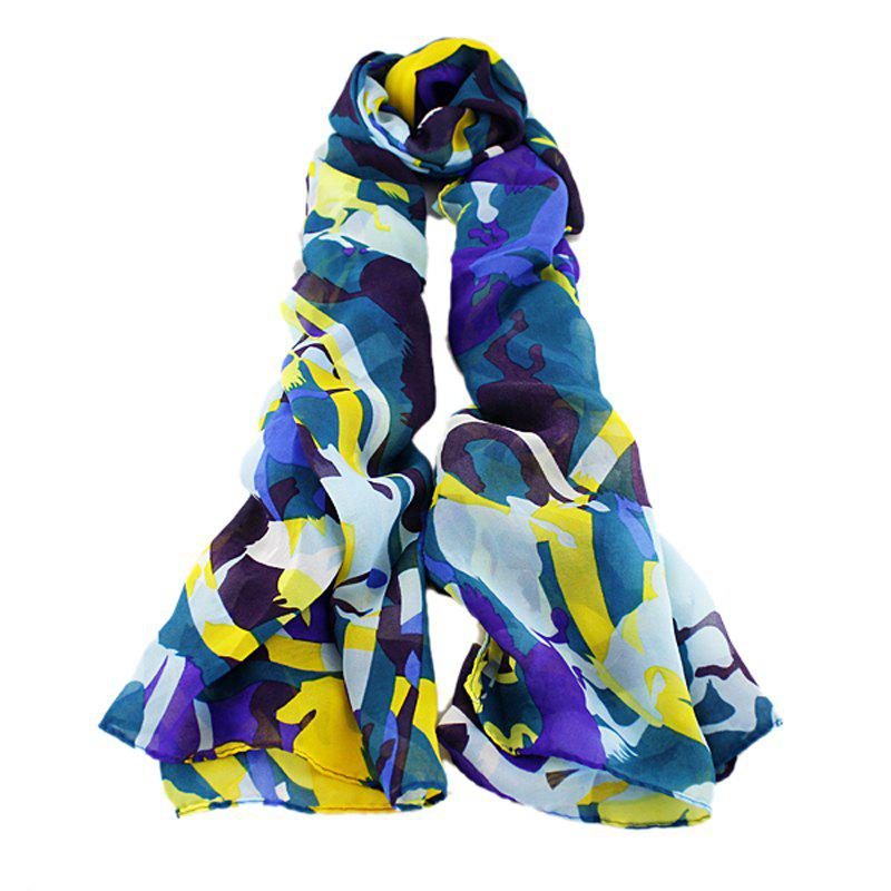 Cheap Fashion Colorful Printing Geometry Long Scarf