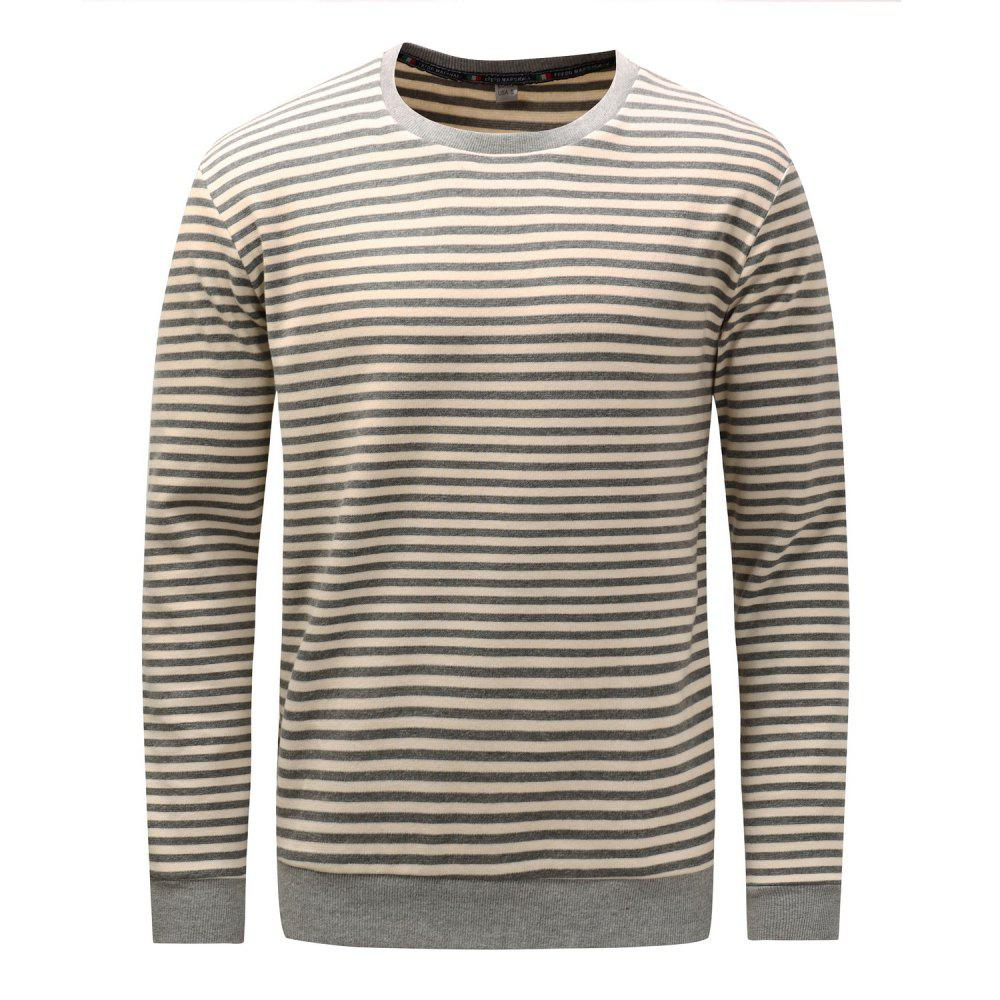 e2d7c852 43% OFF] FREDD MARSHALL Men's Casual Long Striped Sweatshirt | Rosegal