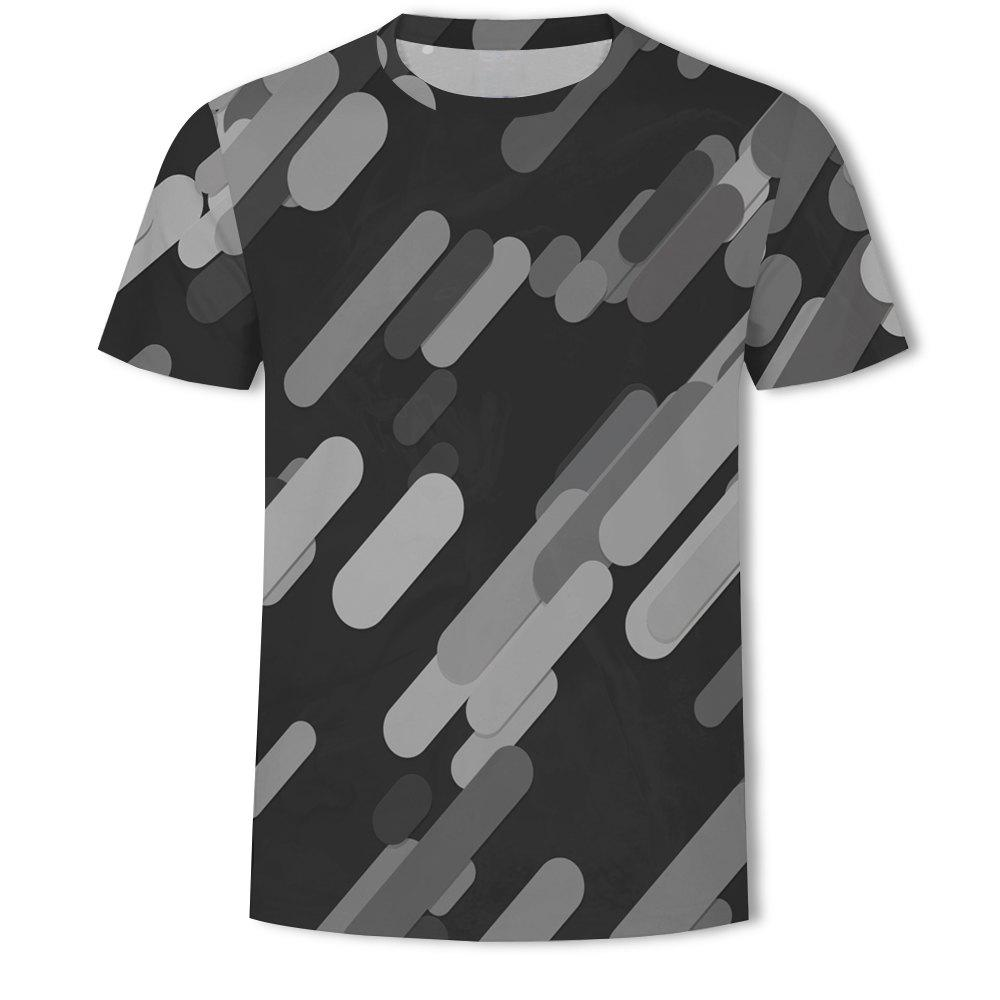 Shop Casual Printed Round Neck Fashion Men's Short-sleeved T-shirt