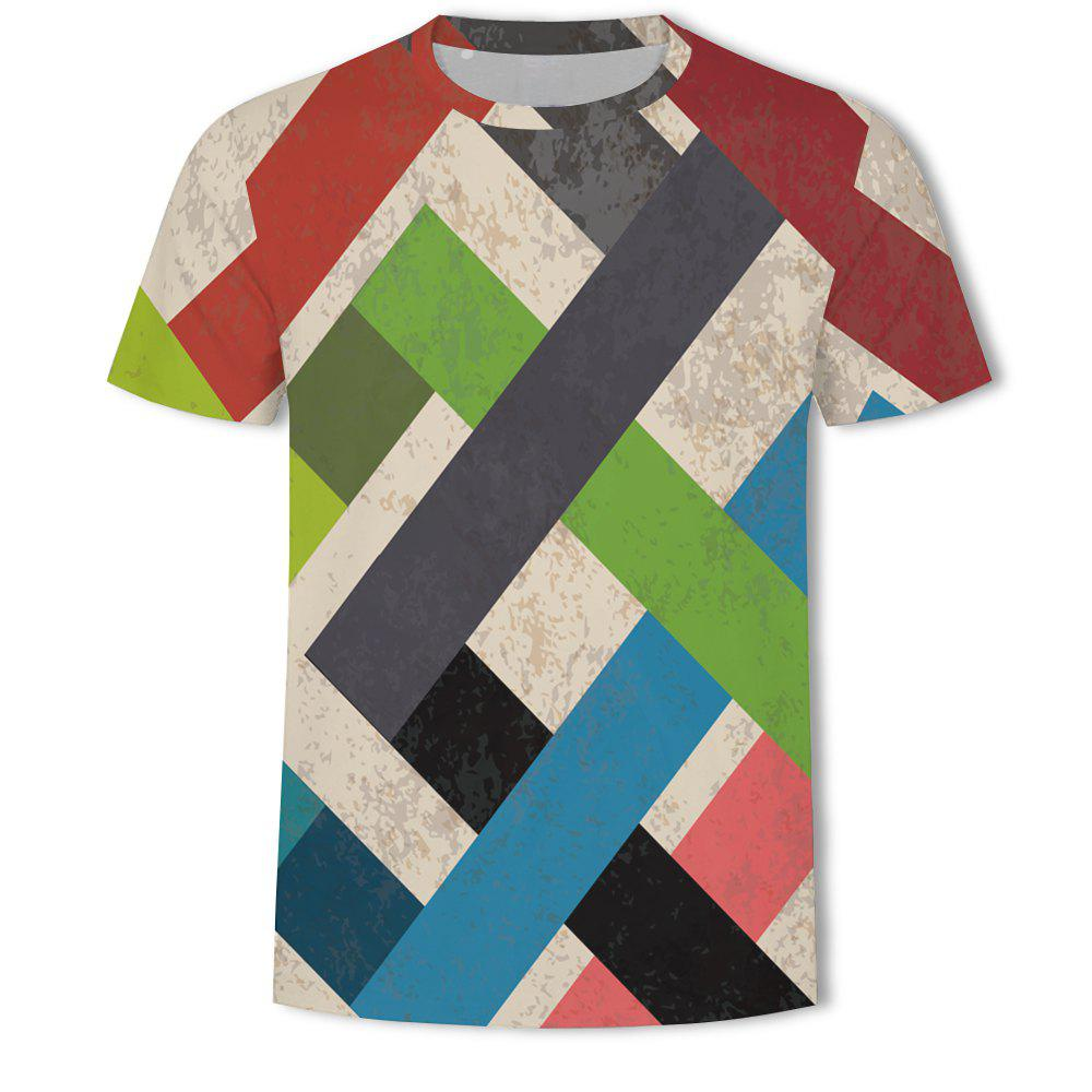 Chic Casual Printed Round Neck Fashion Men's Short-sleeved T-shirt
