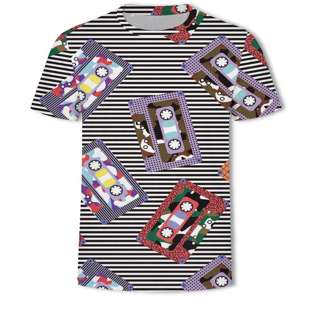 Outfits Casual Printed Round Neck Fashion Men's Short-sleeved T-shirt