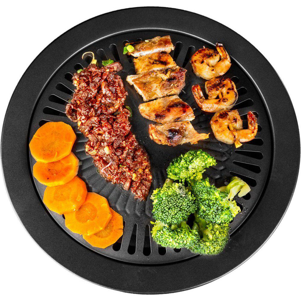 Trendy Nonstick Barbecue Plate Portable Baking Tray