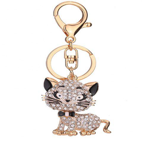 Fashion Diamond Small Cat Key Chain Lady Back Bag Pendant