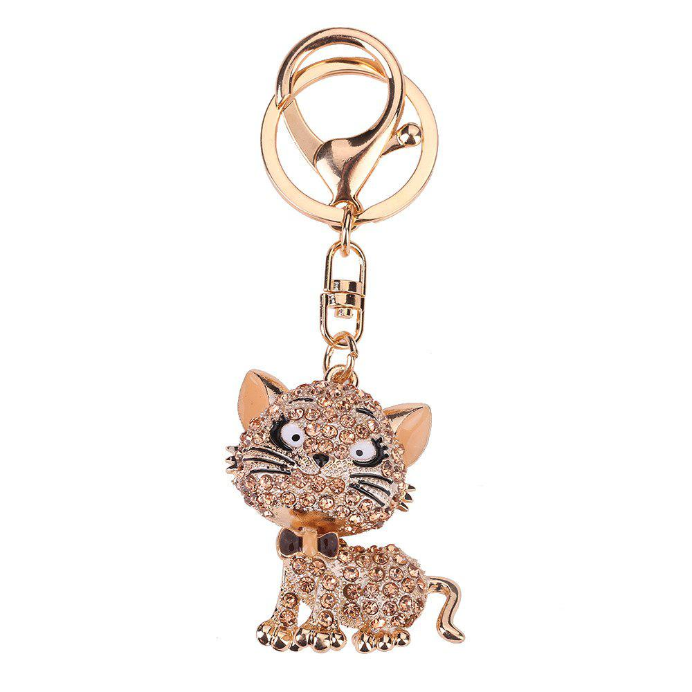 Shops Fashion Diamond Small Cat Key Chain Lady Back Bag Pendant