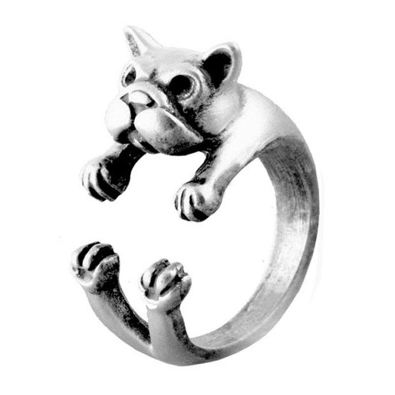 Outfits Creative Animal  Bulldog Open Ring