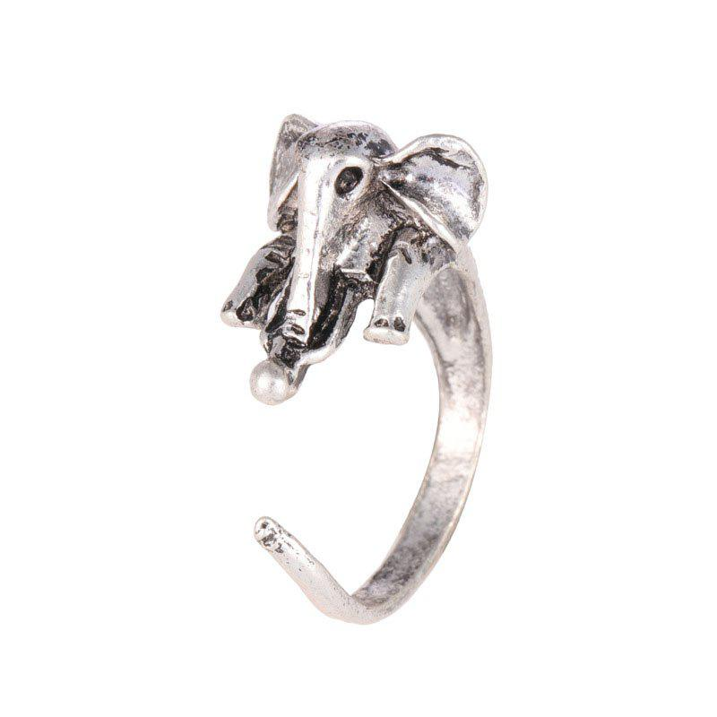 Chic Cute Vintage Adjustable Opening Elephant Ring