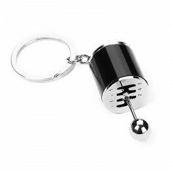 Creative Auto Part Model Six-Speed Manual Transmission Shift Lever Keychain -