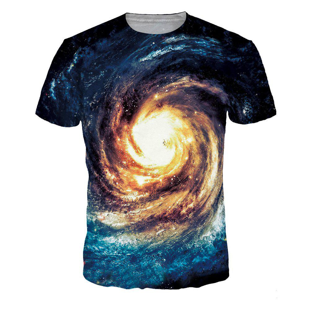 Store Whirlpool Pattern Starry Sky 3D Digital Printing Short Sleeve T-shirt