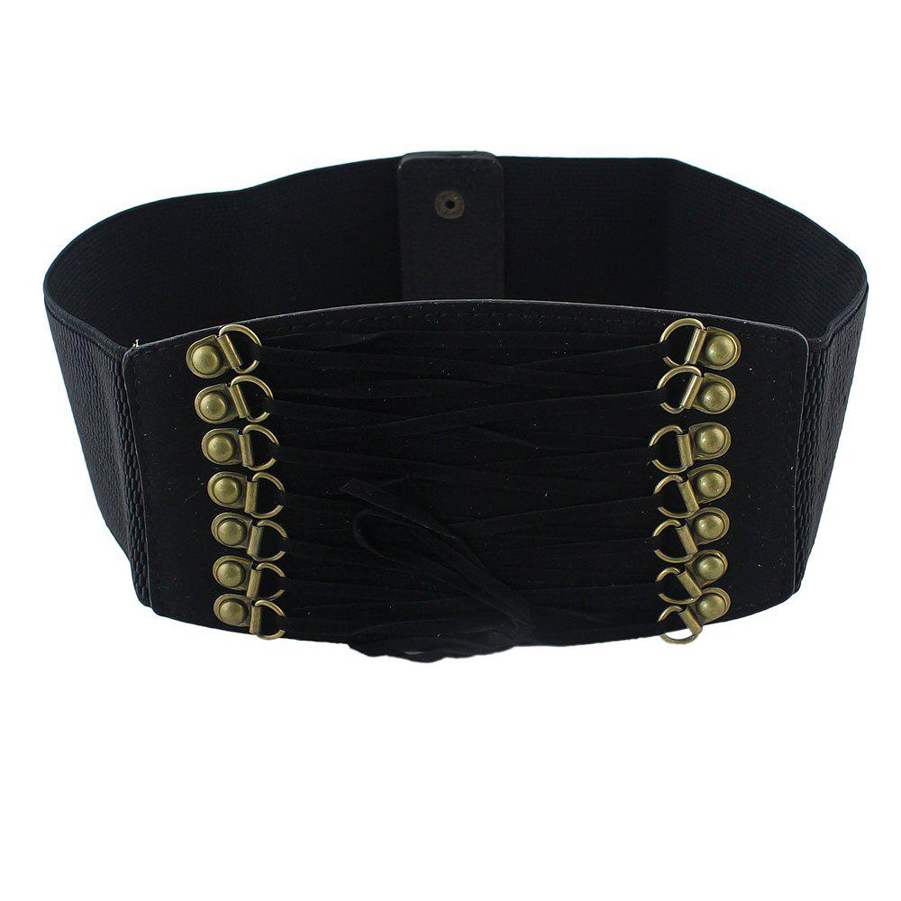 Hot Elastic Waistband Velvet Wide Belt for Women