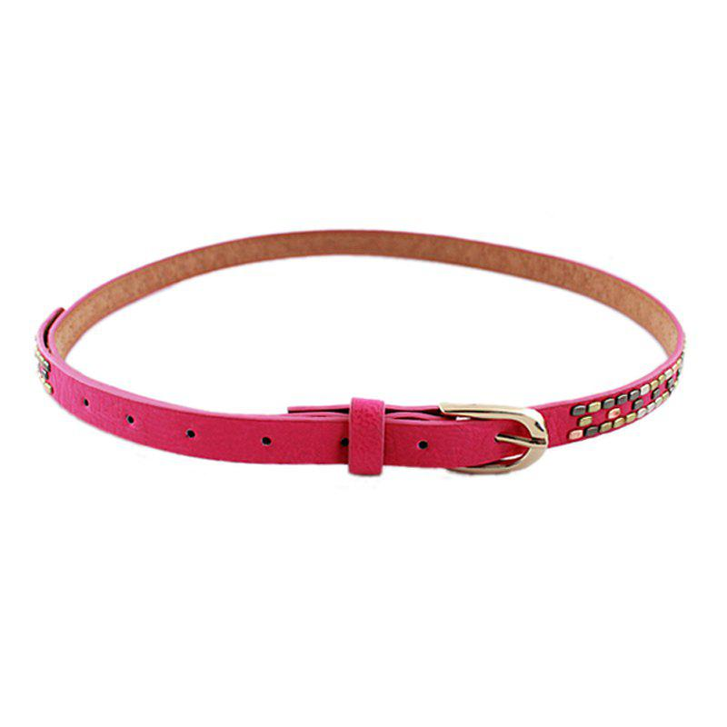 Cheap Fashion Candy PU Leather Belt For Women