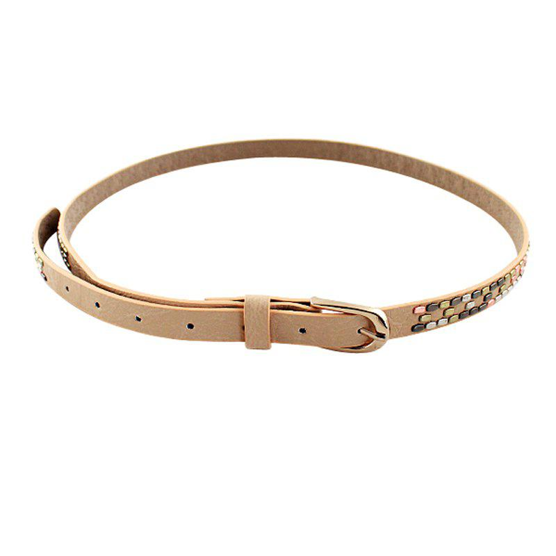 Outfit Fashion Candy PU Leather Belt For Women