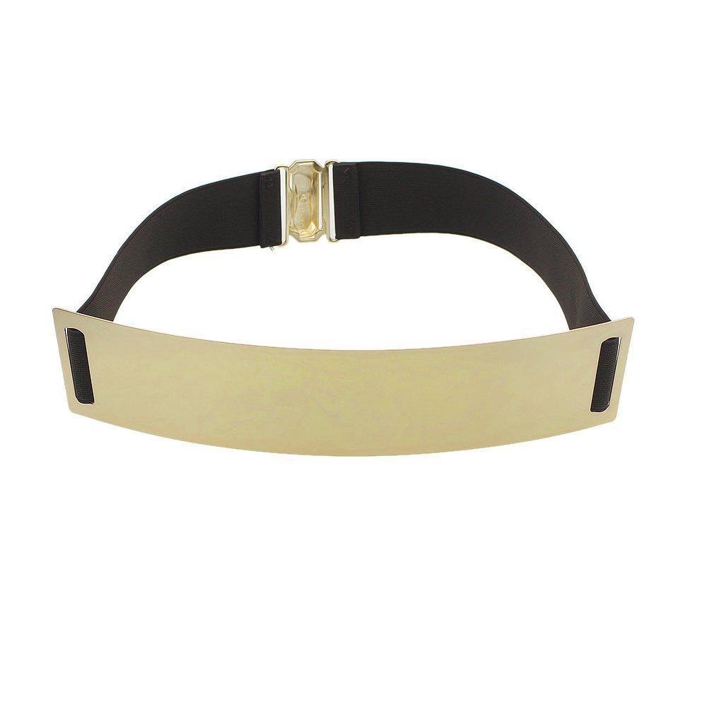 Affordable Elastic Shiny Metal Plated Belt for Women