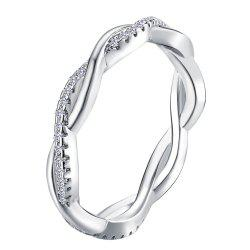 Simple and Stylish Diamond and Twist Couple Ring -