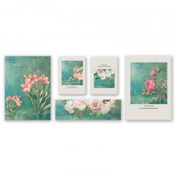 5PCS W472 Flower Cartoon Combination Frameless Painting -